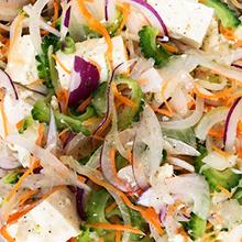 ゴーヤと豆腐のサラダ