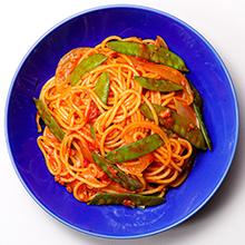 きぬさやのトマトパスタ