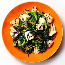 竹の子と菜の花のひじきサラダ